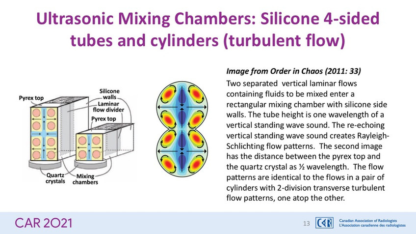 Ultrasonic Mixing Chambers: Silicone 4-sided tubes and cylinders (turbulent flow)