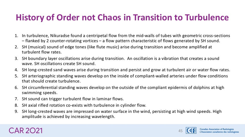 History of Order not Chaos in Transition to Turbulence