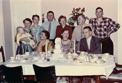 Family photo at their wedding
