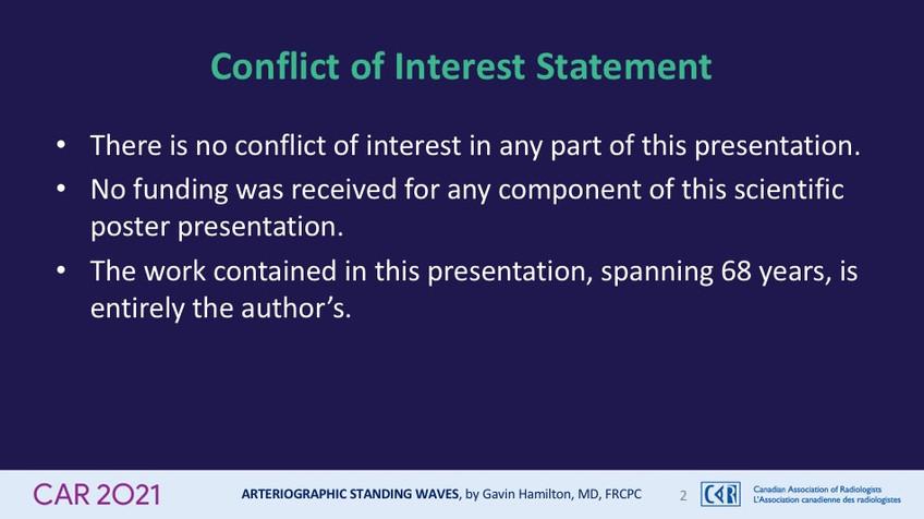Conflict of Interest Statement