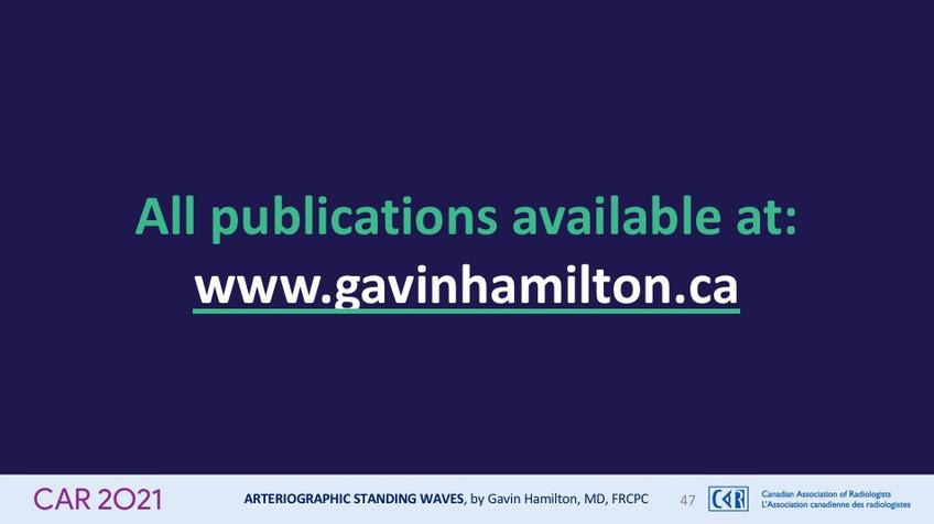 All publications available at:www.gavinhamilton.ca