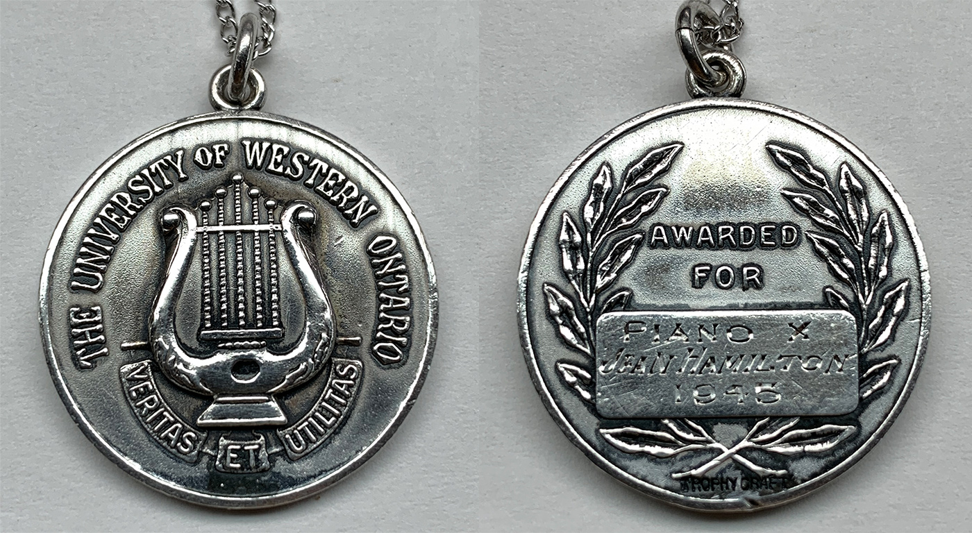 1945 Silver Medal from UWO