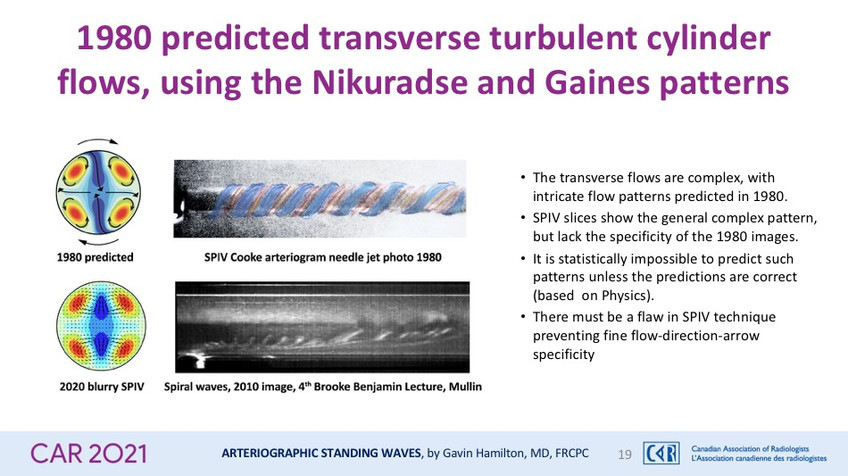 1980 predicted transverse turbulent cylinder flows, using the Nikuradse and Gaines patterns