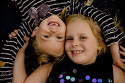 Portrait of young sisters