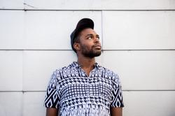 Male model urban fashion portrait