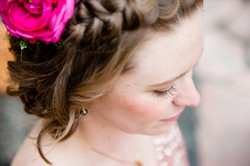 Bride with flower in her hair