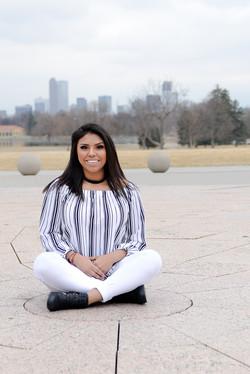 Teen girl sitting in front of Denver