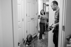 Mom shoots nerf gun with family