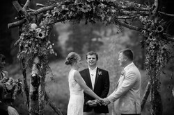 Bride and groom say vows