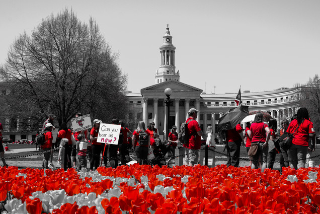 Red for Colorado Teacher Walkout
