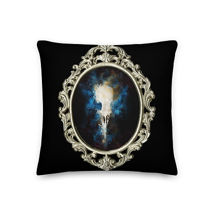 Premium Pillow Framed Bird Skull