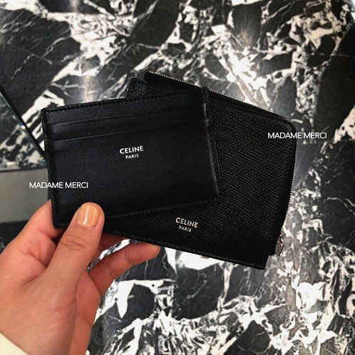 【CELINE】ZIPPED POUCH WITH REMOVABLE CARD HOLDER