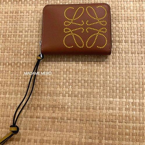 【LOEWE】6 card zip wallet / Tan+Ochre