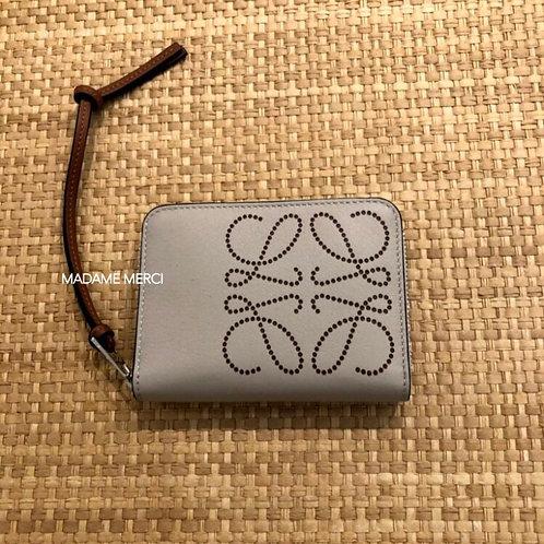【LOEWE】6 card zip wallet / Light Oat+Tan