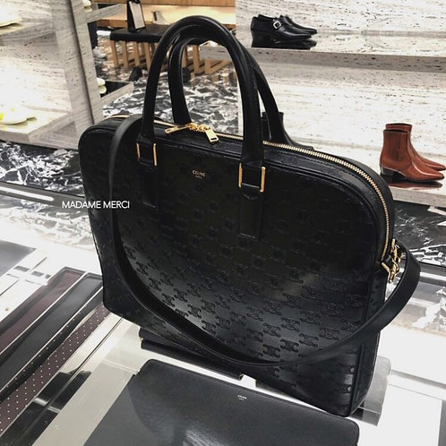【CELINE】MEDIUM BRIEFCASE BAG × TRIOMPHE EMBOSSED CALFSKIN