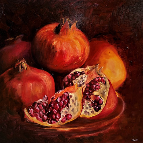 Pomegranates on Plate