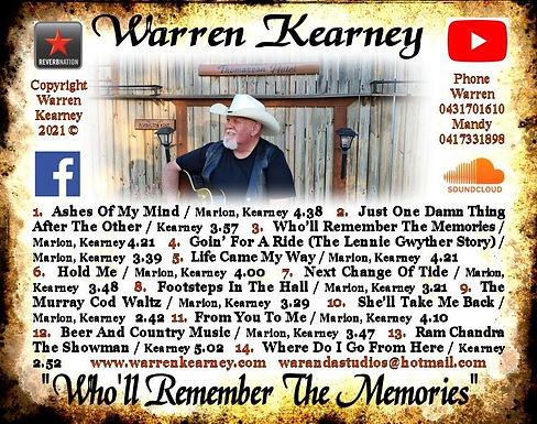 Who'll Remember The Memories CD back JPE