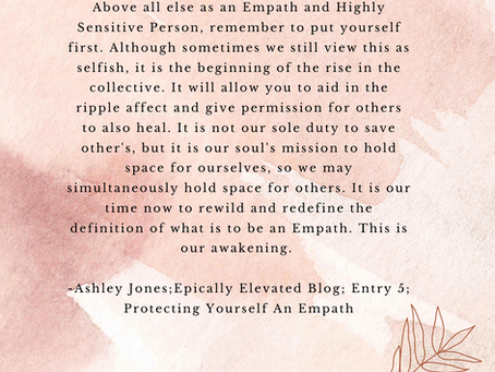 Protecting yourself as Empath & Highly Sensitive Person
