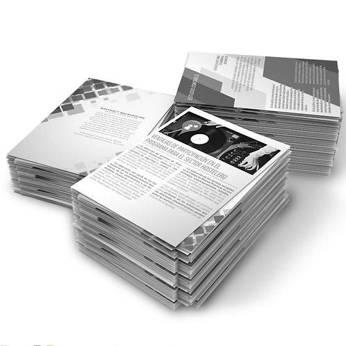 Impression papier N&B 8,5 x 11 (Lettre)