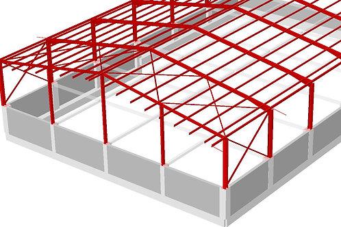 Cálculo de estructura metálicas y cimentación (naves de 300 a 500 m2)