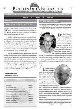 Presentación del nº2 del Boletín de la Biblioteca de la RSEEAP