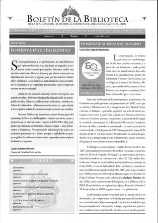 Presentación del nº 3 del Boletín de la Biblioteca de la RSEEAP