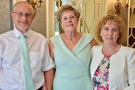 Older couple smiling after their 50th wedding anniversary renewal of vows ceremony with Tanya Jones Perfect Promises Sussex Celebrant, Surrey Celebrant, London Celebrant, UK Celebrant