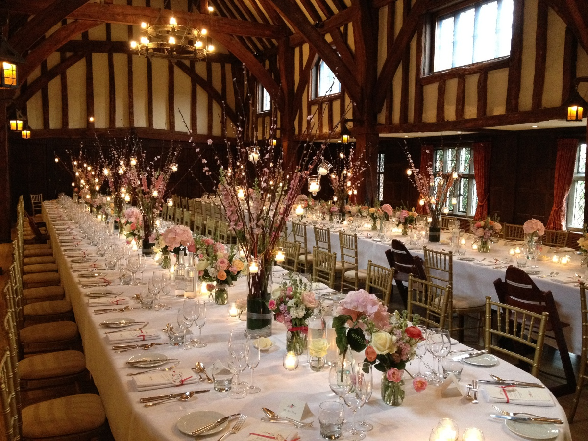 The Tithe Barn at Great Fosters wedding venue