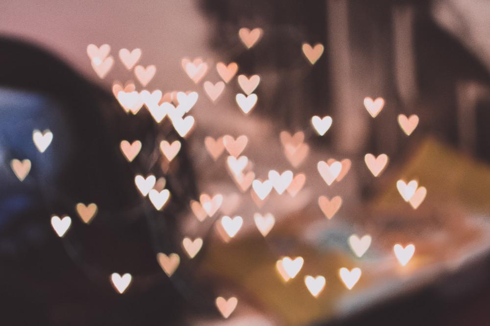 Heart-shaped lights