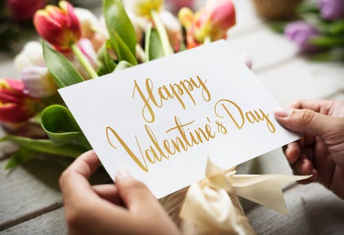 Valentine's Day Card with tulips