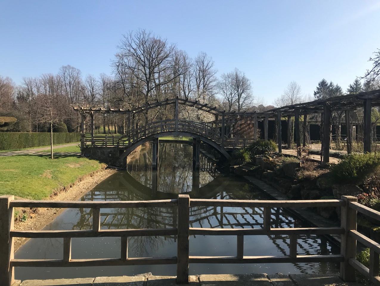 Japanese Bridge at Great Fosters wedding venue Surrey