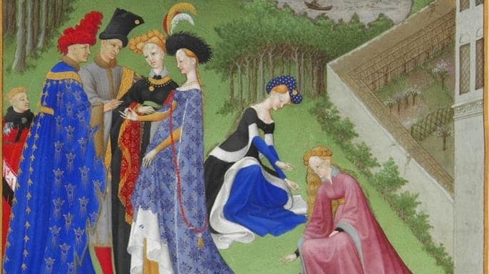 Picture of the marriage of Charles of Orleans and Bonne of Armagnac