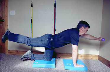 Dr. Russ Sanford demonstrates spinal exercise