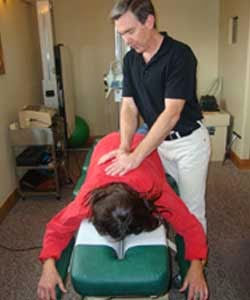 Dr. Russ Sanford gentle Chiropractic adjustment