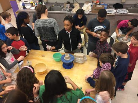 Sandburg Advanced Clay visits Century Middle School