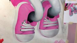 Crayola Mural, Crayon Character, Giant shoes