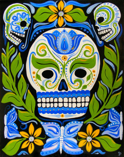 Butter Blue Skull
