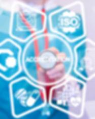 Accreditation Medicine Concept. Accredit