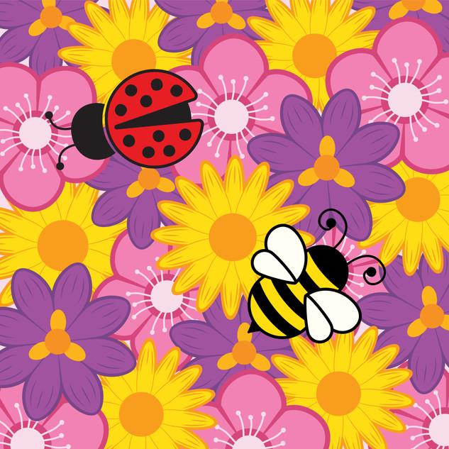 Bumble Bee and Ladybug