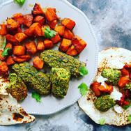 Veggie Kofta & Butternut Wraps