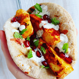 Halloumi Wrap with Zaatar & Pomegranate