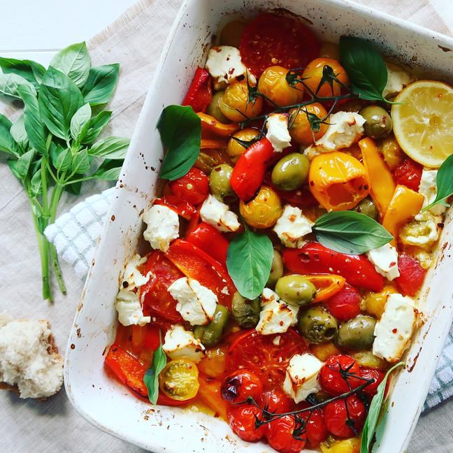 Baked Feta, Tomato & Baby Pepper
