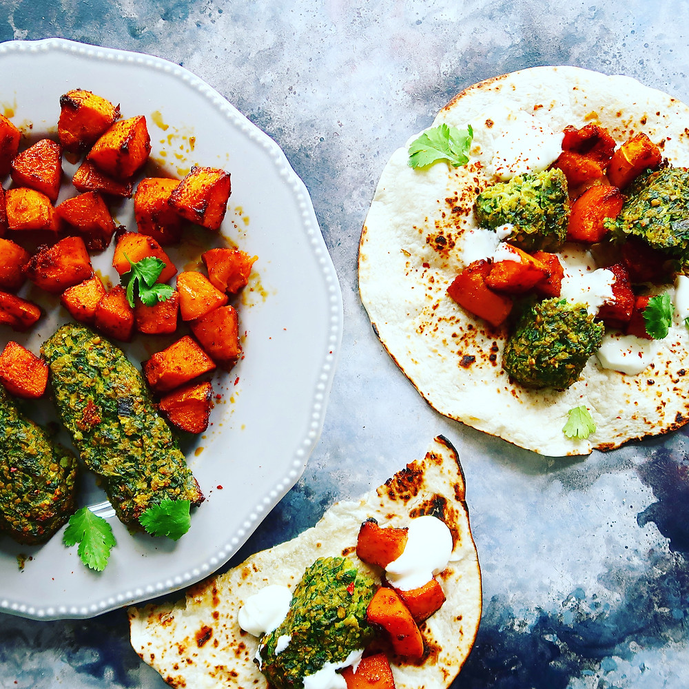 Veggie Kofta and Butternut Squash