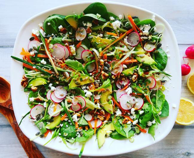 Rainbow Detox Salad with Orange Zest Dressing