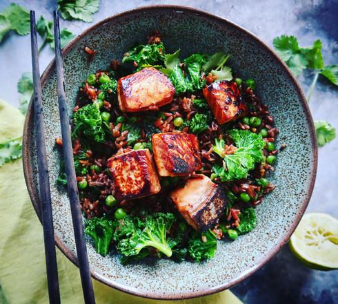 Salmon & Wild Rice Sushi Bowl