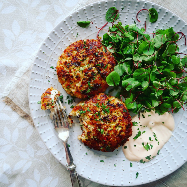 Asian Prawn Cakes with Chilli Sauce