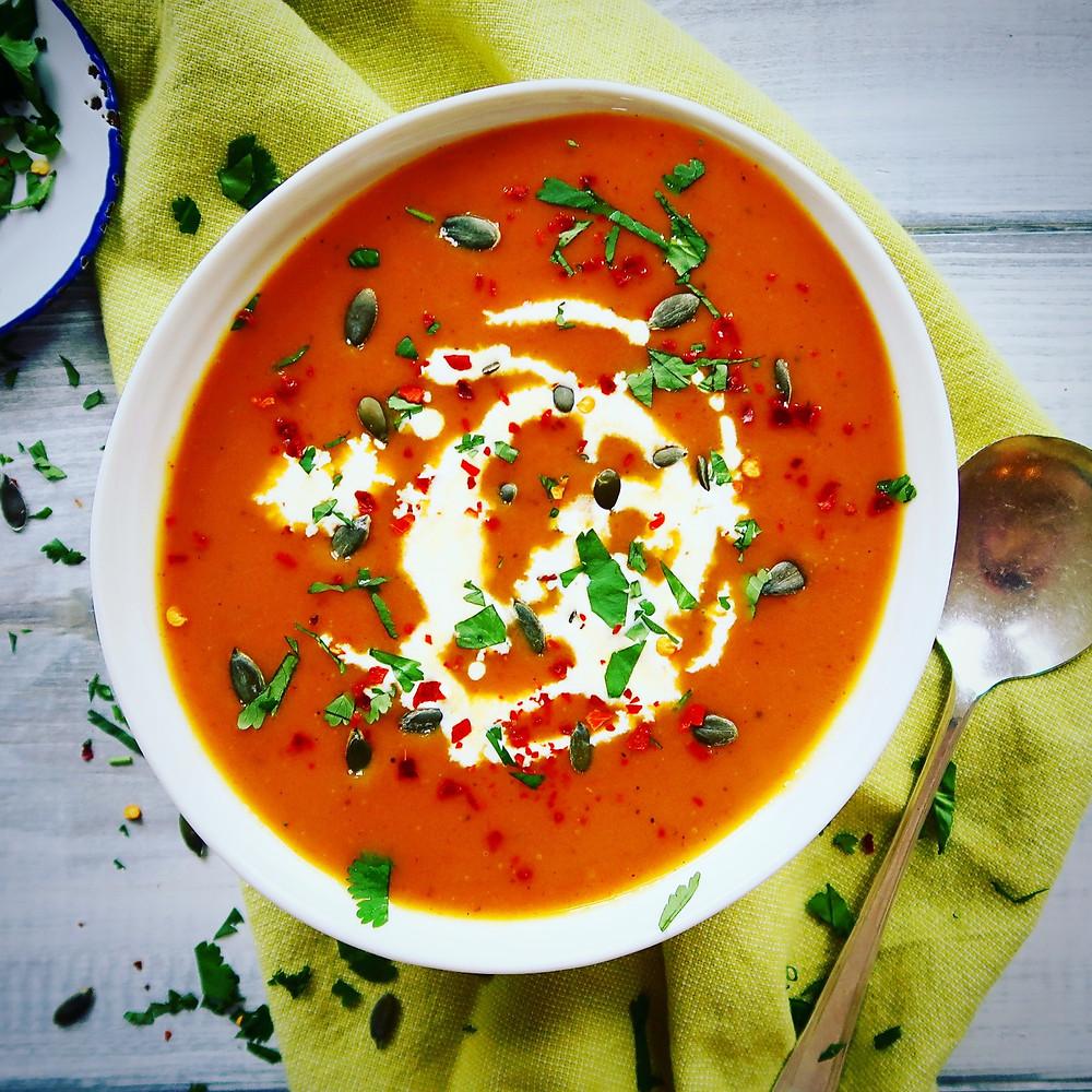 Sweet potato and carrot soup