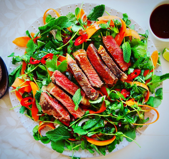 Asian Style Steak & Herb Salad