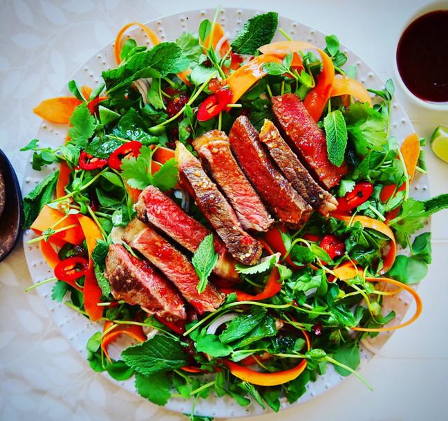 Asian Style Steak & Herb Salad