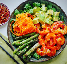 Sticky Sweet Chilli Prawn Bowl
